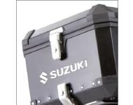 """SUZUKI Zubehör 6 Schlösser - """"Alu Box"""" Top-Case / Seitenkoffer"""